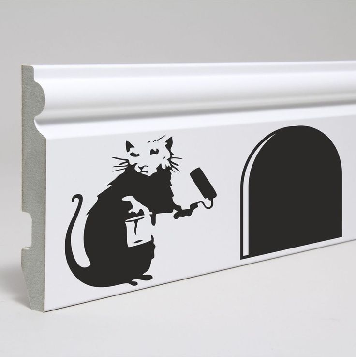 Banksy  Painting Rat skirting board, window Sticker Decal Home Decoration