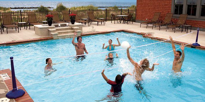 10 best deck slides images on pinterest backyard ideas - Pool volleyball ...
