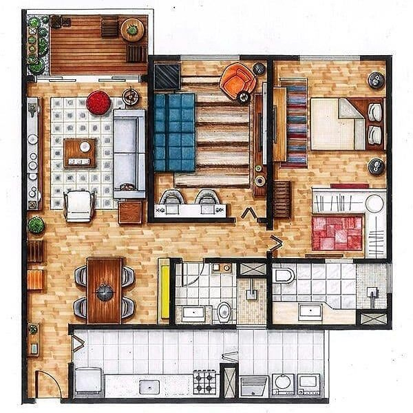 Handmade Hausplan Great Planning Interior Architecture Drawing Interior Design Presentation Interior Design Sketches