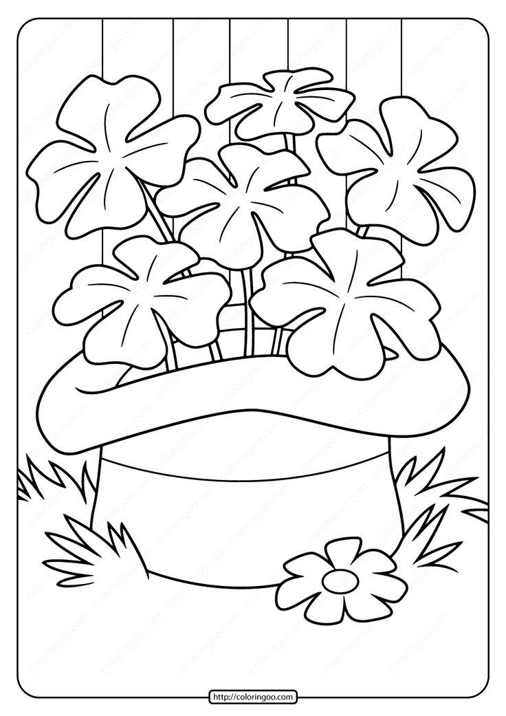 Free Printable Saint Patrick's Day Pdf Coloring Page St