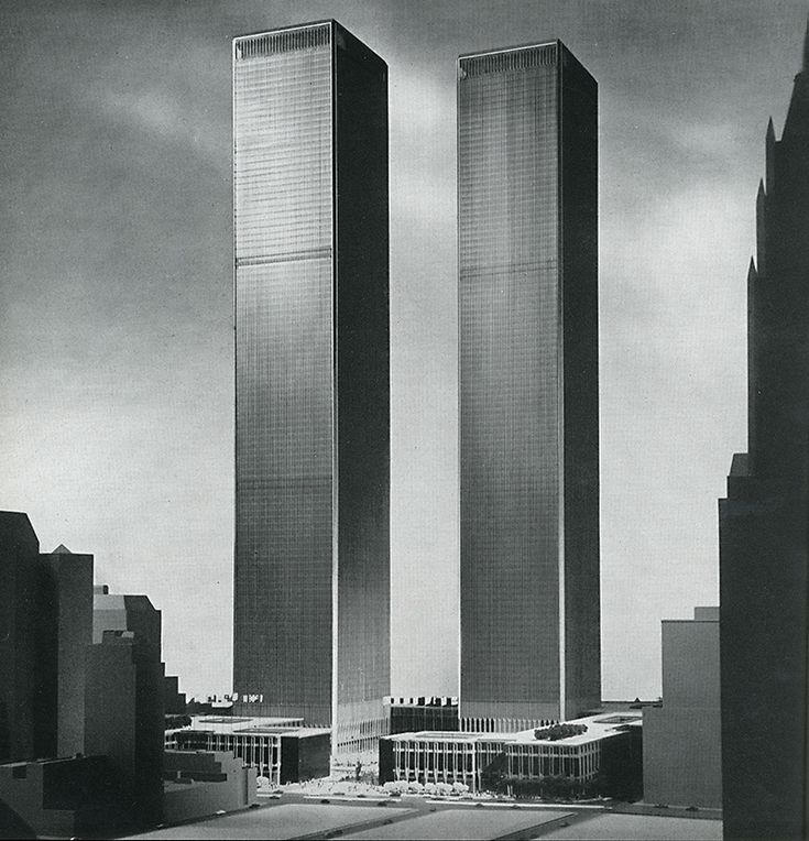 This is a graphic of Revered Twin Towers Drawing