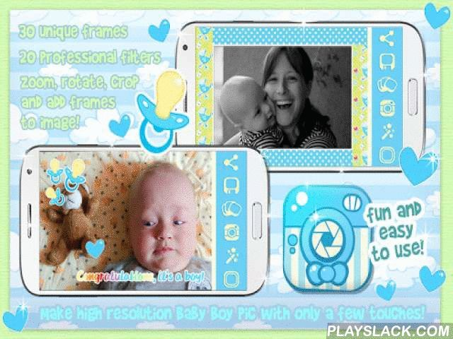 Baby Boy Photo Frame Pic Story  Android App - playslack.com , ✰All the caring parents in the world, here's a brand new free photo editor for your cute baby pictures! If you're into photography, and you love taking selfies with your little baby boy all the time, this pix decorator with cool camera effects is the right photo editing software for you! Just download ☺ Baby Boy Photo Frame Pic Story ☺ right now, and you'll be able to create the loveliest baby wallpapers for your smartphone! Show…