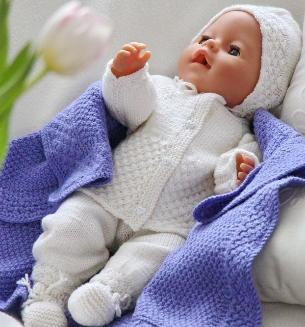 Baby born knitting patterns knitted in the softest lovely baby wool