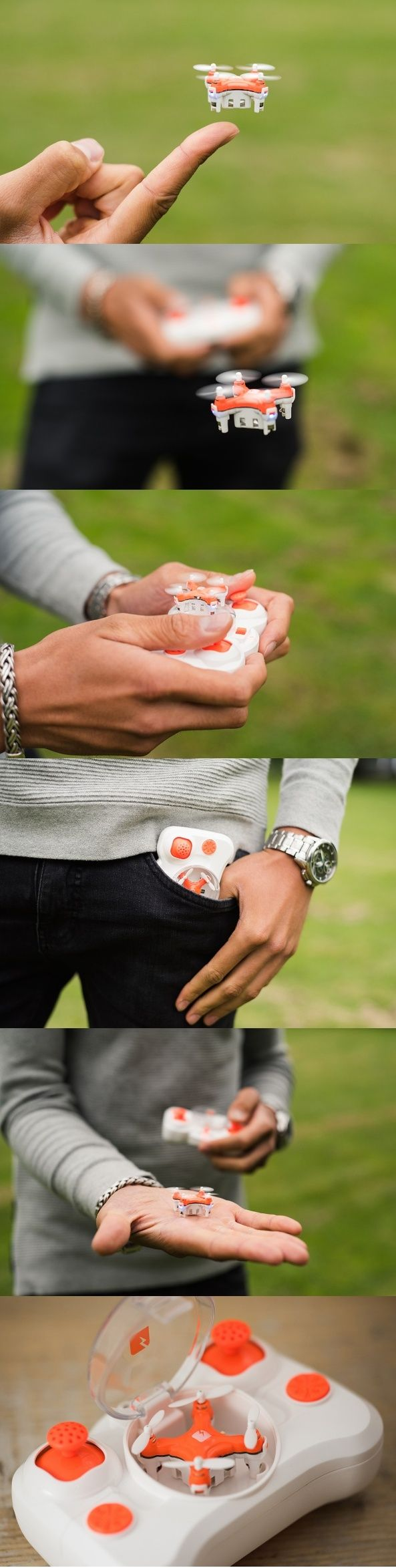 Introducing the teeny tiniest drone EVER! The #SKEYE #Pico Drone is so small, it can easily sit on your finger and fly on precision controlled exercises into the narrowest of nooks! The drone is designed to be taken everywhere and is so small that it even fits inside of its own #controller. #Drone #Technology #Design #YankoDesign