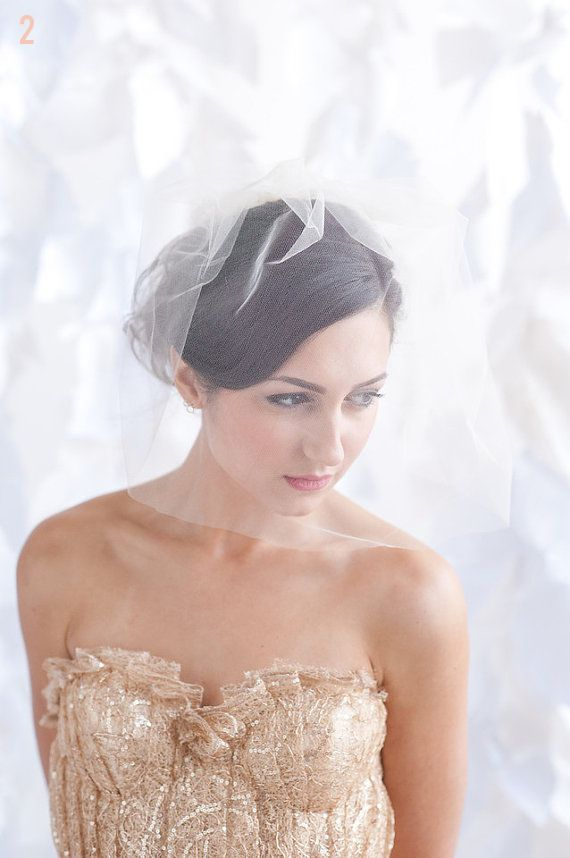 Wedding Veil Styles: The Ultimate Guide (Part One) - shoulder length veil by tessa kim, photo by candice benjamin
