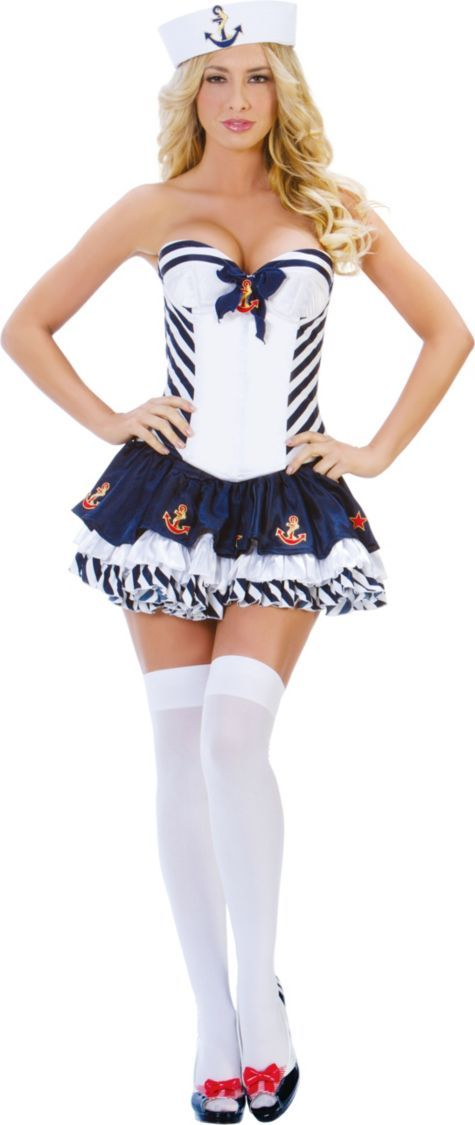 Adult Stripe Sailor Costume - Party City