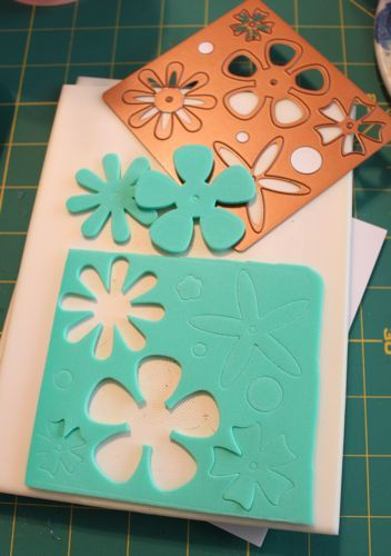 """using """"Magic Stamp"""" foam sheets and dies"""