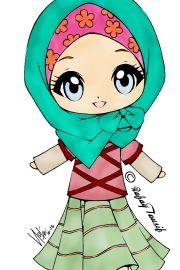 Chibi Drawings (Cute Muslim Characters) - Muslim Manga and Anime Drawings | IslamicArtDB.com | Page 4