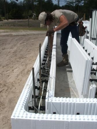 Insulating concrete forms or icfs are solid interlocking for Foam block construction