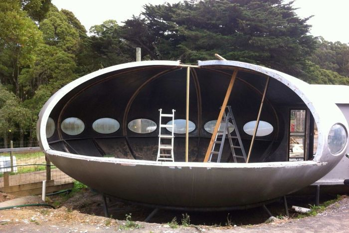 Flying Saucer Futuro House For Sale In Victoria Modern Contemporary House Plans Contemporary House Plans House