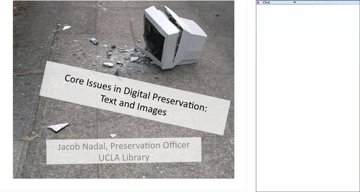 Digital Preservation: Text and Image Formats on Vimeo