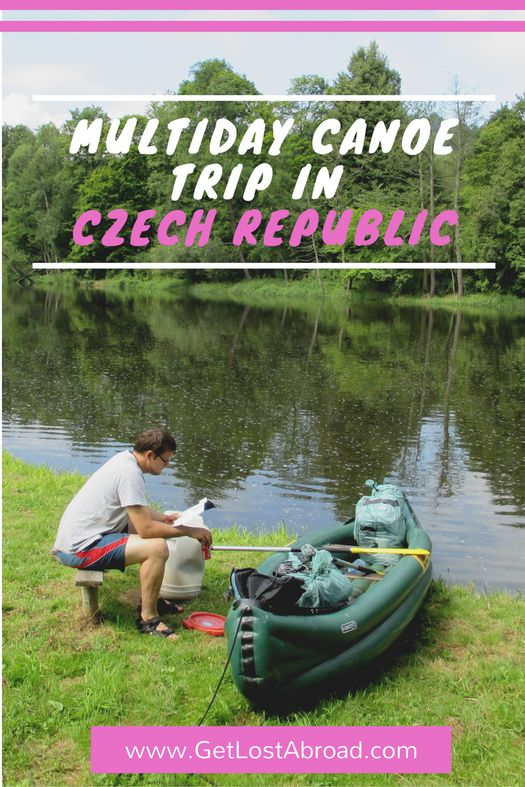 Czech Republic travel tips. Beautiful places and things to do from Prague. How to arrange a multiday canoe trip on the Ohre in the countryside