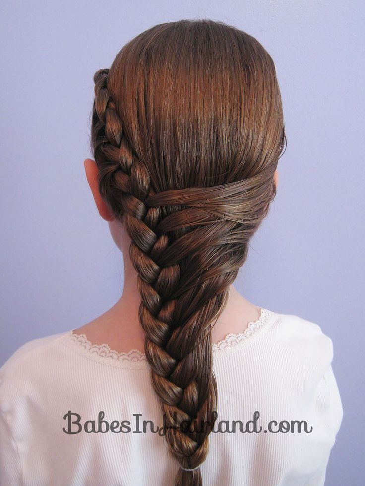 Half French Braid Hairstyle -