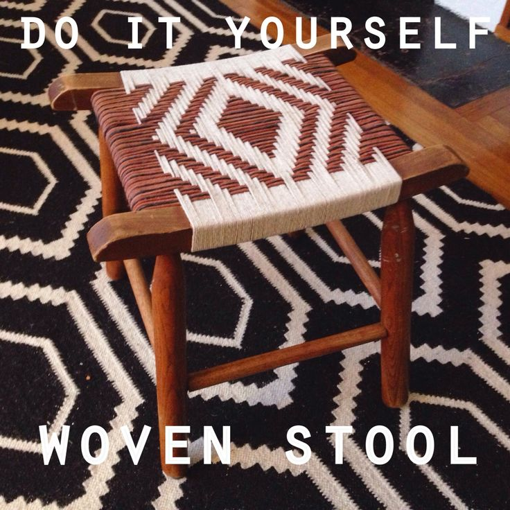 One Fine Pine: DIY: WOVEN STOOL