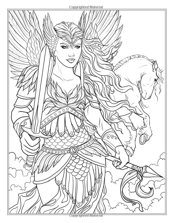 Amazon Goddess And Mythology Coloring Book Fantasy By Selina