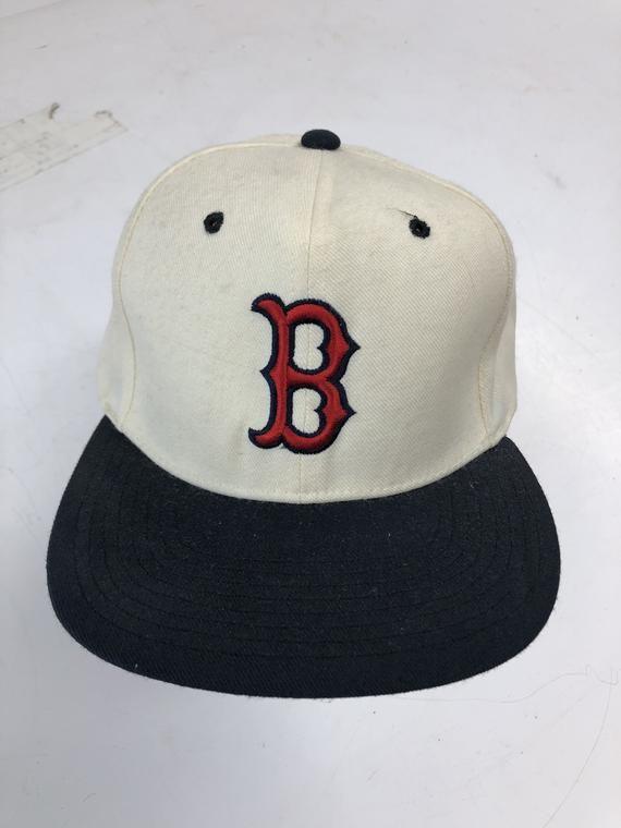 vintage 90s boston red sox hat snapback white new era pro model