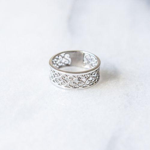 """Filirose """"Bella Silver Ring"""" - Minimalistic, elegant fine jewelry with Portuguese filigree 22h"""
