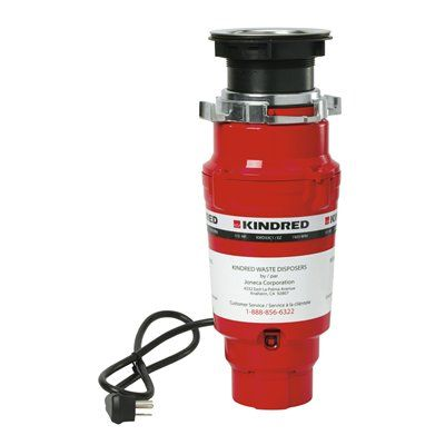 Kindred KWD33C1/EZ Continuous Feed Food Waste Disposer