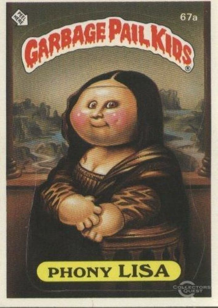 #tbt Garbage Pail Kids   I remember these as a kid but I wasn't really a fan, some of them were pretty gruesome lol