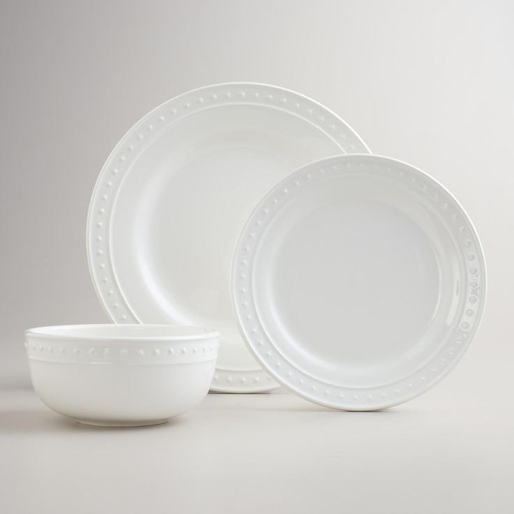World Market Lately: Our White Nantucket Dinnerware Is A Flawless Complement To