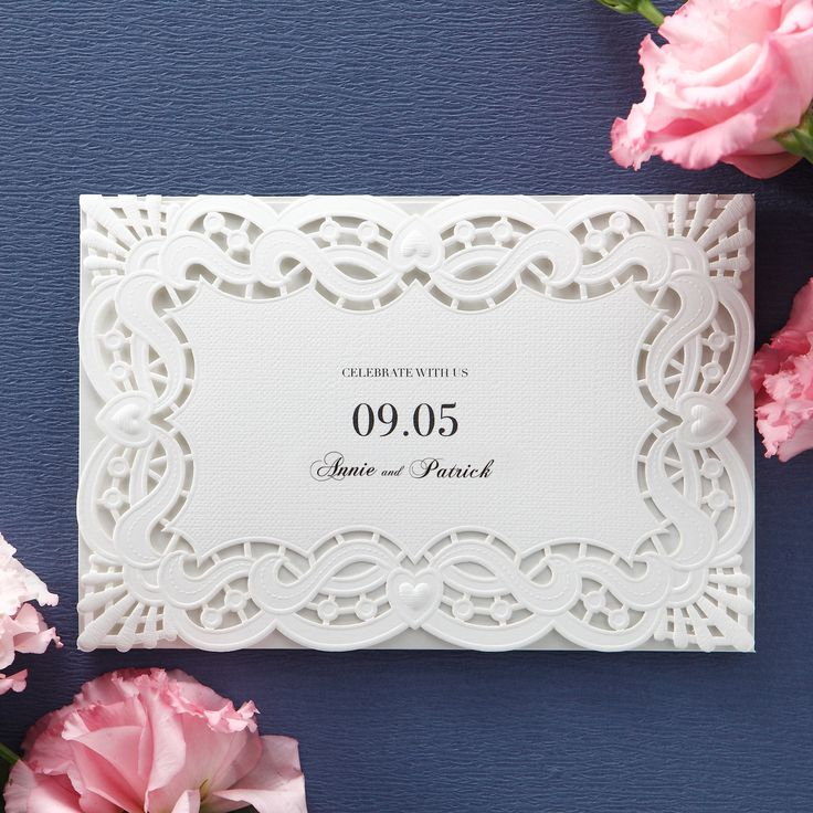 Monogram initial Laser Cut Wedding Invitations u2013