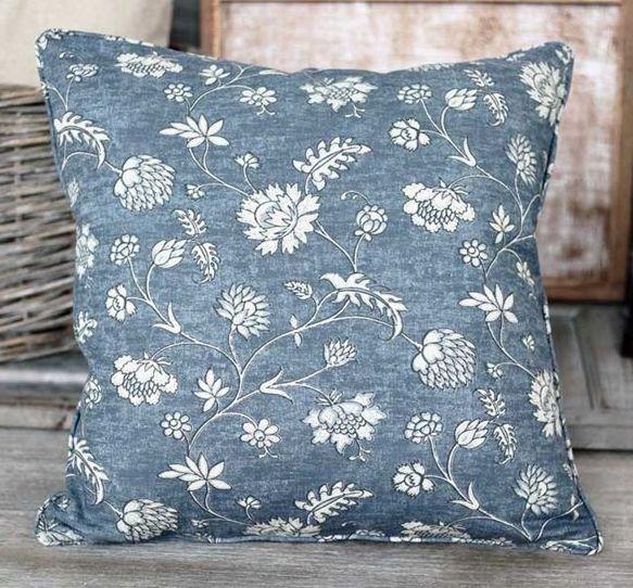 Floral Blue Cushion - £22.00 - Hicks and Hicks