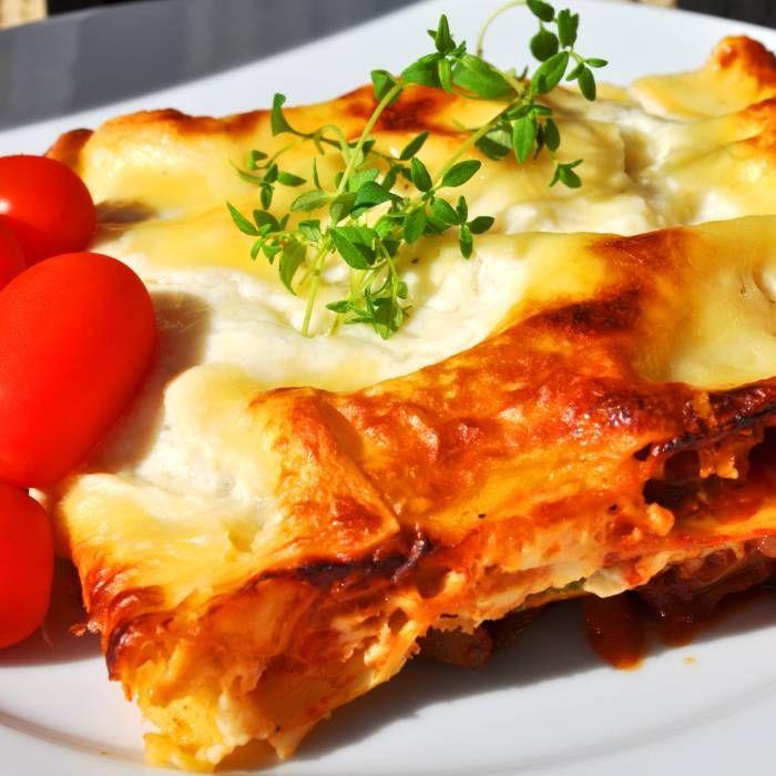 Lasagne med heta korvar