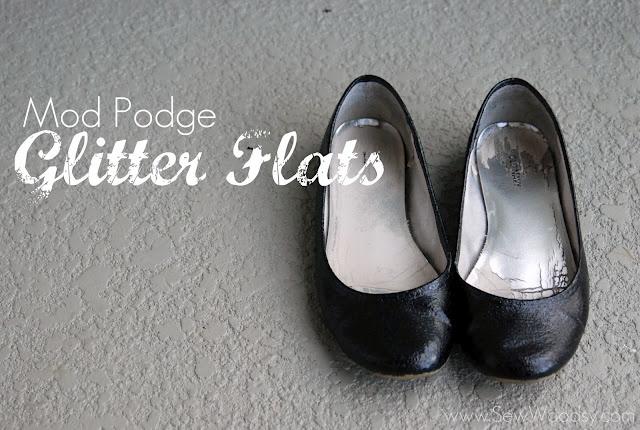Mod Podge Glitter Flats #modpodge #diy #crafts #shoes