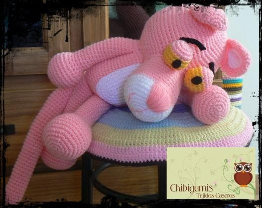 Amigurumi Free Pattern Pink Panther : Pantera Rosa!!! Patron by Chibigumis Patron gratis en www ...