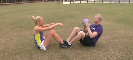 3 Medicine Ball Exercises to Do with a Partner: Fitzness Minute