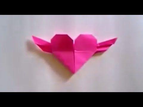 Cara Membuat Sayap Hati Origami Kertas https://www.youtube.com/watch?v=ft519JRVOj8