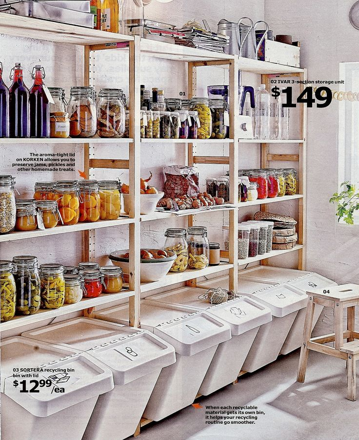 I would LOVE a pantry like this! I think I found this picture in an Ikea catalog...