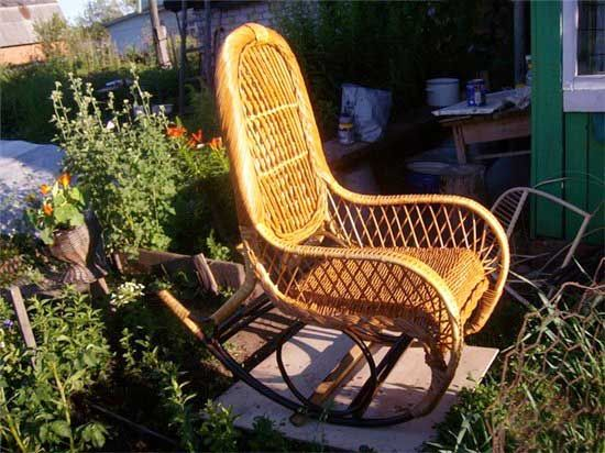 bamboo ricking chairs for outdoor decor