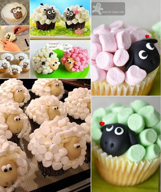 Cute marshmallow sheep cupcakes recipe pinterest muffins verzieren kochen f r - Kawaii kochen ...