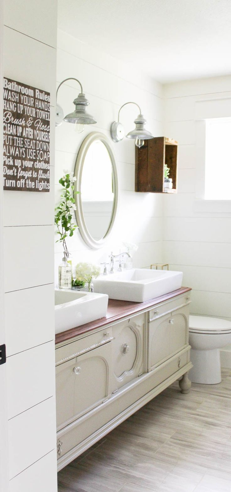17 best ideas about farmhouse style bathrooms on pinterest
