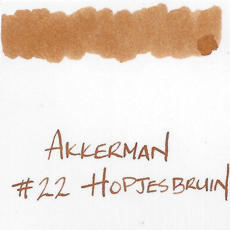 Hopje brown ink made by P.W. Akkerman pen store in The Hague. Originally made to celebrate their 100th anniversary, this ink comes in a vintage-style bottle wit