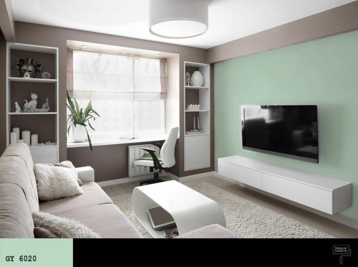 sciana_za_telewizorem_w_salonie_w_kolorze_mietowym