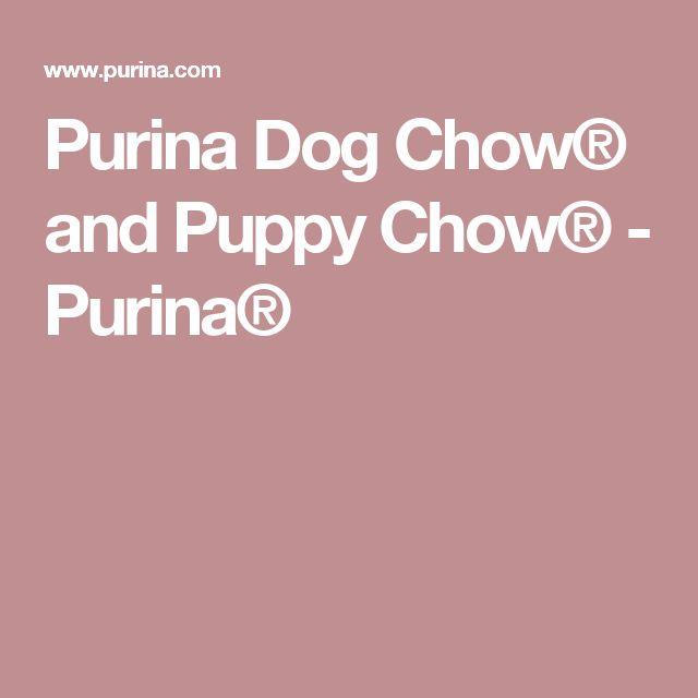 Purina Dog Chow® and Puppy Chow® - Purina®