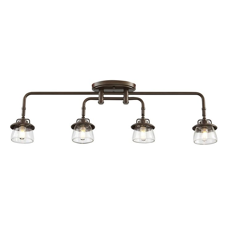 Allen roth bristow 4 light mission bronze standard fixed track light kit lowes