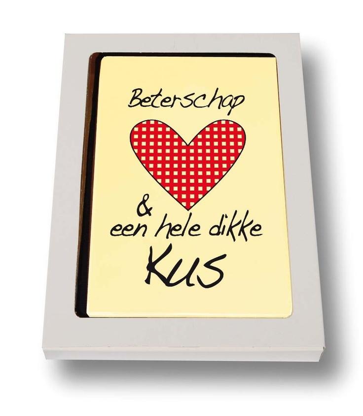 Beterschap en een hele dikke kus