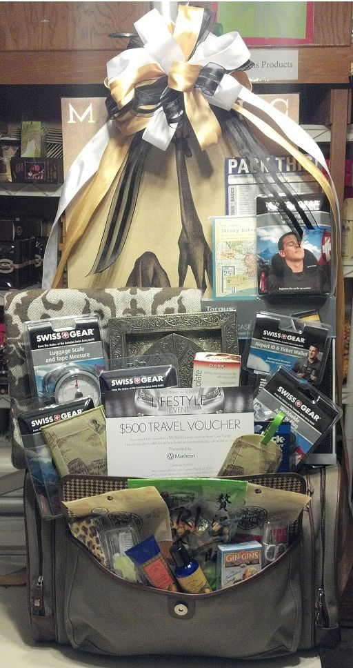 Custom Travel and Adventure Theme Gift Basket