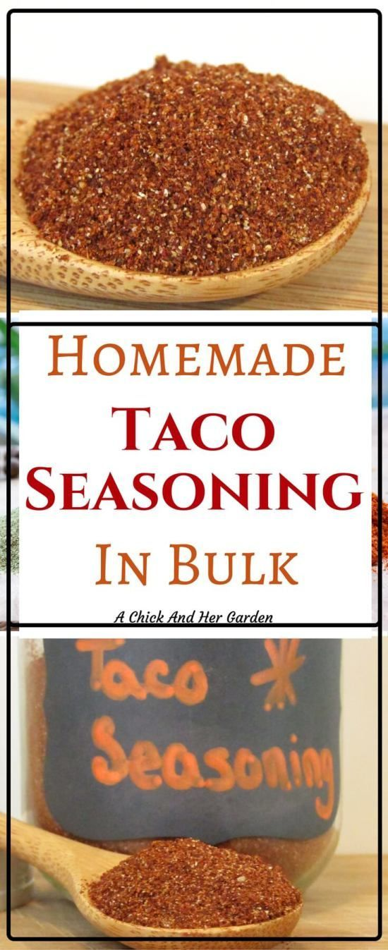Ditch the store bought stuff and stock your pantry with this homemade taco seasoning in bulk!