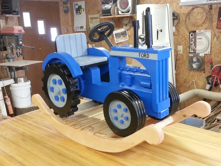 Rocking Tractor Ford Or New Holland Kid S Doll