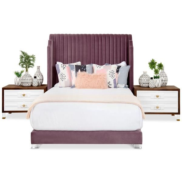Tiffany Bed With Channel Tufting In 2020 Modern Beds And