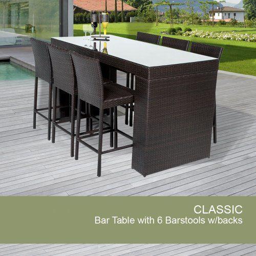 Bar Table Set With Barstools 7 Piece Outdoor Wicker Patio Furniture TK Classics,http://www.amazon.com/dp/B00JBQBI64/ref=cm_sw_r_pi_dp_lpRCtb19699KJ71K