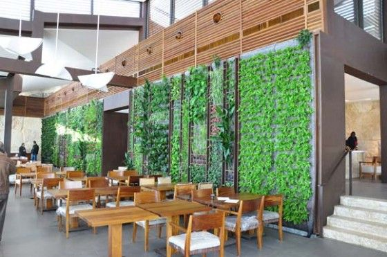 green wall, vertical garden, living wall, Lebanon, Al-Sultan Ibrahim Restaurant, Green Studios, Gatserelia Design