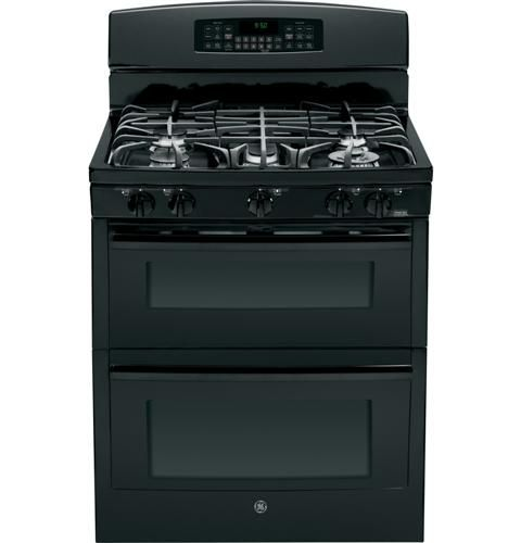 "PGB950DEFBB | GE Profile™ Series 30"" Free-Standing Gas Double Oven with Convection Range 