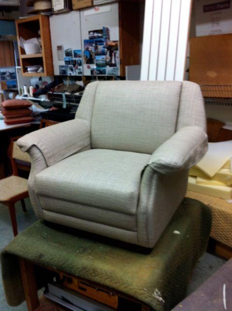 Custom recovered 1940's armchair
