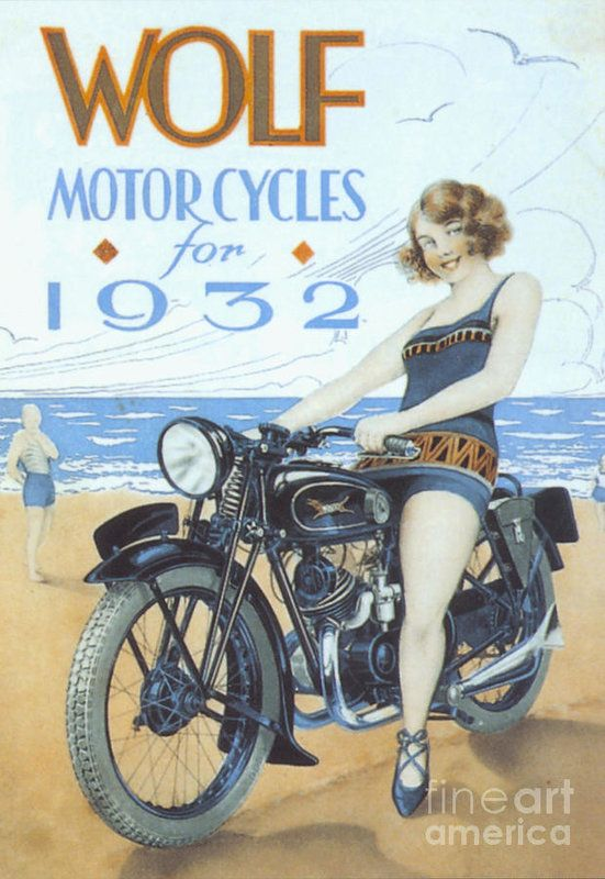 Wolf 1939 1930s Uk Motorbikes Art Print By The Advertising Archives Vintage Motorcycle Posters Motorbike Art Motorcycle Posters