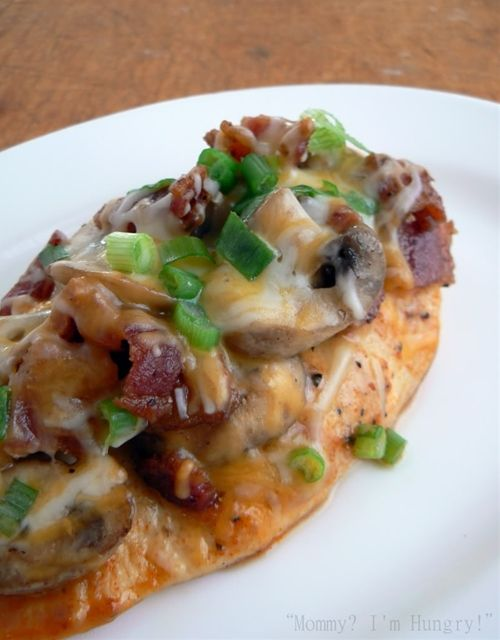 Bacon Mushroom Honey Dijon Chicken;  Recipe and instructions I found at the following link: http://recipes.sparkpeople.com/recipe-detail.asp?recipe=2073515